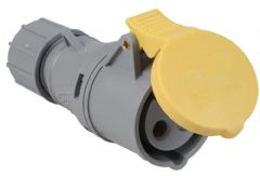 CONCORDIA TECHNOLOGIES IS1019RQW  Coupler 16A 110V 2P+E Yellow